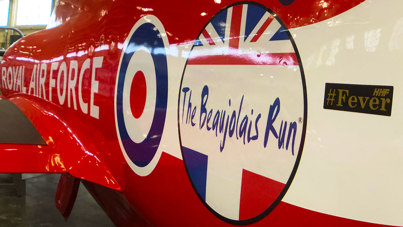 Red Arrows Launch The Beaujolais Run 2018