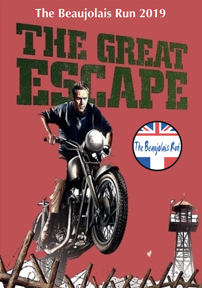 The Beaujolais Run 2019 Steve McQueen poster - The Great Escape
